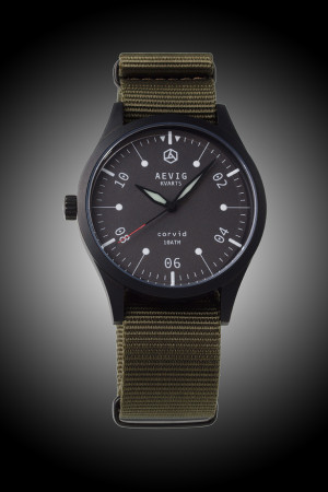 Aevig black Corvid quartz