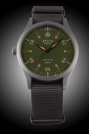 Aevig green Corvid quartz
