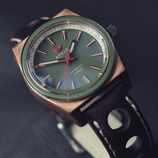 Aevig Valkyr bronze green, patina
