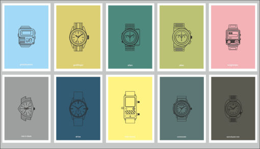 Aevig, Icon series filmposters. Postcards